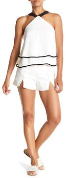 Do & Be Do + Be Front Split Topstitched Shorts