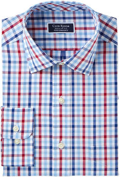 Club Room Men's Classic-Fit Wrinkle-Resistant Plaid Dress Shirt, Created for Macy's
