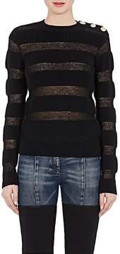 Balmain Women's Striped Mohair-Blend Sweater