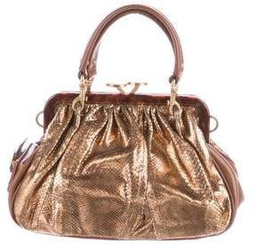 Marc Jacobs Metallic Snakeskin Stam Bag - GOLD - STYLE