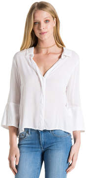 Bella Dahl Tie Back Shirt-White-XS