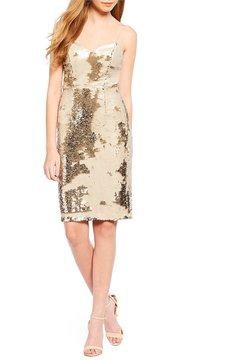 Astr Franesca Sequin Sweetheart Mini Dress