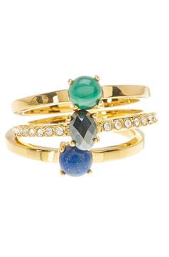 Botkier Stone Ring Set - Set of 3 - Size 7