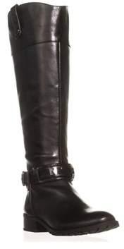 INC International Concepts I35 Fabbaa Wide Calf Knee High Riding Boots, Black.