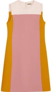 Bottega Veneta Color-block Wool-crepe Dress - Pink