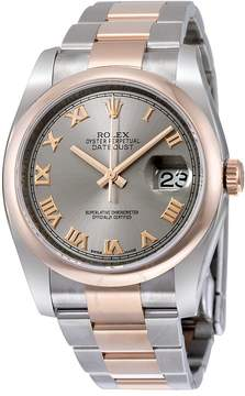 Rolex Oyster Perpetual Datejust 36 Grey Dial Stainless Steel and 18K Everose Gold Bracelet Automatic Men's Watch