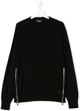 DSQUARED2 side zipped jumper