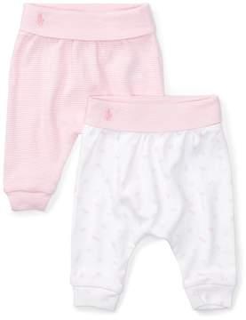 Ralph Lauren | Interlock Legging 2-Piece Set | 6-12 months | Fresh pink/white