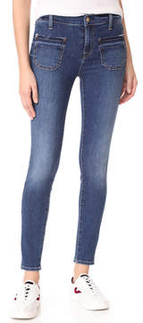 7 For All Mankind The Ankle Skinny Jeans with Released Pockets