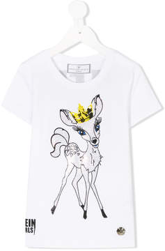 Philipp Plein Junior embellished bambi T-shirt
