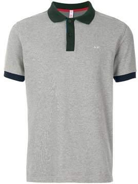 Sun 68 Men's A1811134 Grey Cotton Polo Shirt.