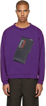 Acne Studios Purple Tape Recorder Flames Sweatshirt