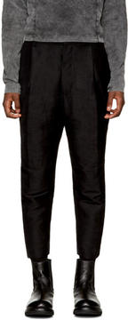 The Viridi-anne Black Linen Straight Trousers