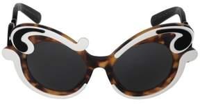 Prada Minimal Baroque Butterfly Sunglasses PR23NSF VAL1A1 52 | Matte Havana Frame | Carbon Lenses