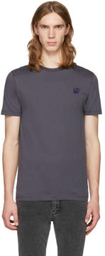 McQ Grey Swallow Patch T-Shirt