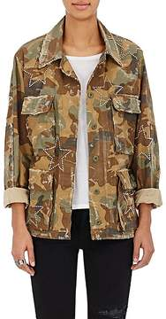 Amiri Women's Camouflage Cotton Studded Field Jacket