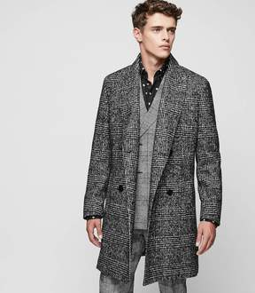 Reiss Owens Check Overcoat