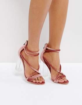 Public Desire Gwyn Pink Heeled Sandals