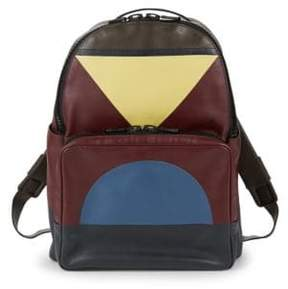Valentino Geometric Leather Backpack