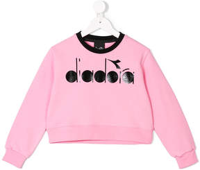 Diadora Junior branded cropped sweater
