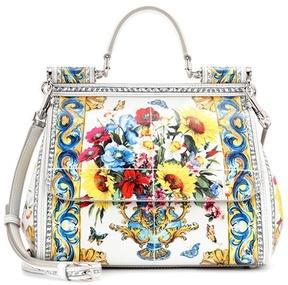 Dolce & Gabbana Sicily Medium printed leather shoulder bag