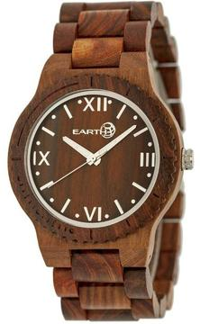 Earth Bighorn Collection ETHEW3503 Unisex Wood Watch with Wood Bracelet-Style Band