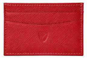 Aspinal of London Slim Credit Card Case In Scarlet Saffiano