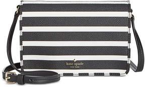 Kate Spade Hyde Lane Stripe Mini Renee Crossbody - BLACK/OFF WHITE - STYLE