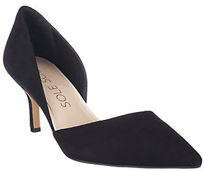 Sole Society As Is Suede Mid-heel Pumps - Jenn
