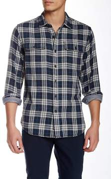 Grayers Double Cloth Plaid Long Sleeve Regular Fit Shirt