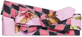 Gucci Garden chains print silk headband