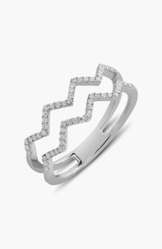 Bony Levy Women's 'Prism' 2-Row Diamond Ring (Limited Edition) (Nordstrom Exclusive)