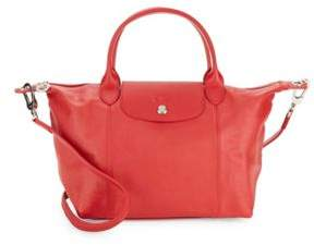 Longchamp Le Pliage Cuir Tote - RED - STYLE
