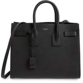 Saint Laurent 'Small Sac De Jour' Leather Tote - Black