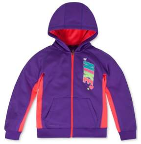 Nike Toddler & Little Girls Purple Therma-Fit Hoodie Zip Front Sweatshirt