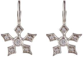 Cathy Waterman Women's Snowflake Drop Earrings