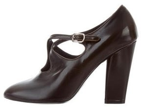 Marc Jacobs Leather Round-Toe Pumps