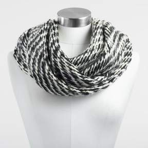 World Market Black and White Reversible Infinity Scarf