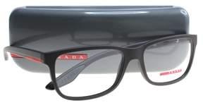 Prada PS02GV Eyeglass Frames UB01O1-56 - Brown Rubber