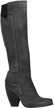 Max Studio Jasper Waxed Suede Wooden Heeled Tall Boots