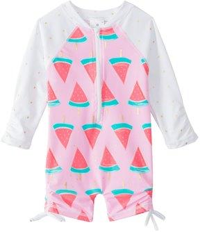 Snapper Rock Girls' Watermelon L/S One Piece Sunsuit (0mos2T) - 8155093