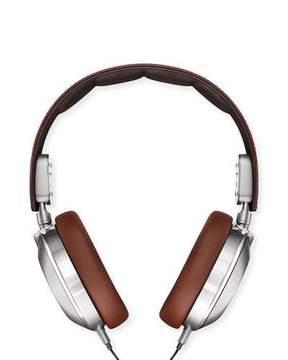 Shinola Leather Over-Ear Headphones, Brown