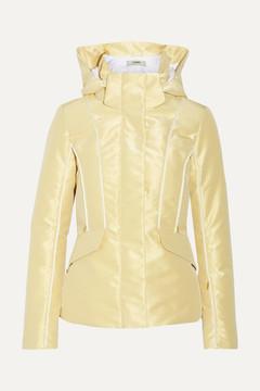 Fendi Roma Metallic Padded Ski Jacket - Gold