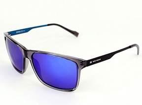 HUGO BOSS Boss Orange sunglasses BO 0163/S AYPZ0 Acetate Transparent Grey - Matt Black Brown with Blue mirror effect