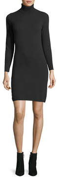 Neiman Marcus Long-Sleeve Turtleneck Cashmere Dress