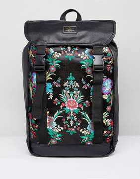 Asos Hiker Backpack In Chinoiserie Fabric