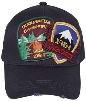 DSQUARED2 1964 Patches Gabardine Baseball Hat