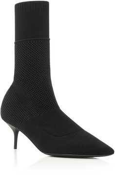 Burberry Lynda Stretch-Knit Ankle Boots