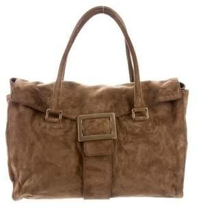 Roger Vivier Suede Handle Bag