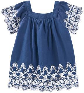 Osh Kosh Baby Girl Embroidered Trapeze Dress